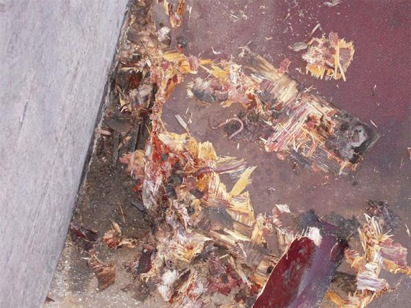 Holzplatte verfault